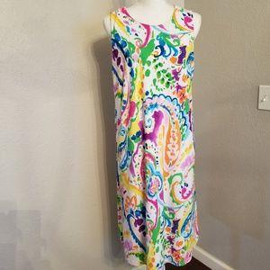 Lauren Ralph Lauren Sun Dress 1X Multi Color